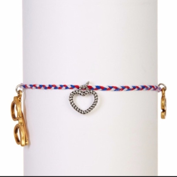 Marc By Marc Jacobs Tiny Friendship Bracelet Charms Cord Black Brass Gold Tone Keep You Fit All The Time Bracelets Fashion Jewelry